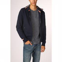 Superdry Cardigan Orange Label Track Donkerblauw