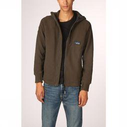 Superdry Cardigan Polar Fleece Ziphood Donkerkaki