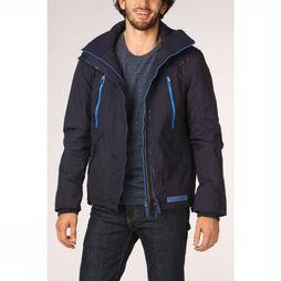 Superdry Coat Hooded Polar Wind Attacker dark blue