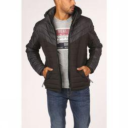 Superdry Coat Tweed Mix Fuji dark grey/black