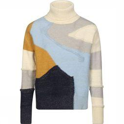 FRNCH Pullover Norane off white/light blue