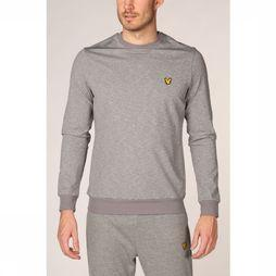 Lyle & Scott Trui Superwick Crew Neck Midlayer Lichtgrijs Mengeling