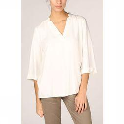 Yaya Blouse Fabric Mix V-Neck 3/4 Sleeves Gebroken Wit
