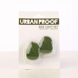 UrbanProof Bike Lighting Silicon Set mid khaki
