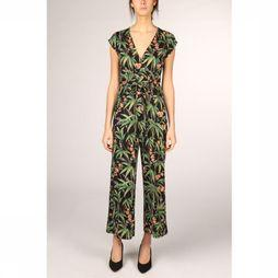 King Louie Jumpsuit Lot Cropped Tahiti Zwart/Assortiment Bloem