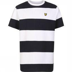 Lyle & Scott T-Shirt Ss / Bright White Wit/Donkerblauw