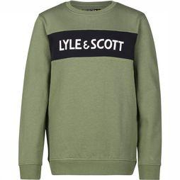Lyle & Scott Trui Logo Crew Neck / Hedge Green Lichtkaki