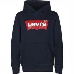 Levi's Kids Pullover Lvb Batwing Screenprint Hoodie dark blue