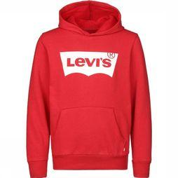 Levi's Kids Pullover Lvb Batwing Screenprint Hoodie red