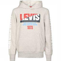 Levi's Kids Pullover Lvb Levis Moto Split Pullover Hoodie Light Grey Mixture