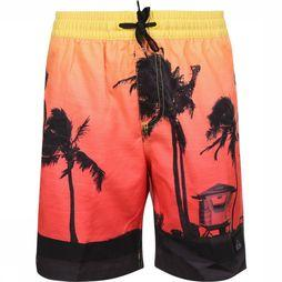 Quiksilver Zwemshort Paradise Volley Youth 15 Middenrood/Assortiment