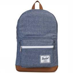 Herschel Supply Daypack Pop Quiz Classics jeans blue/mid brown