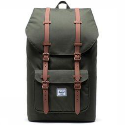 Herschel Supply Daypack Little America Classics dark khaki/brown