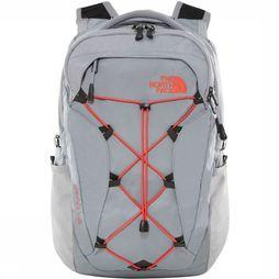 The North Face Sac à Dos Borealis 27L Gris Clair/Rouge Moyen