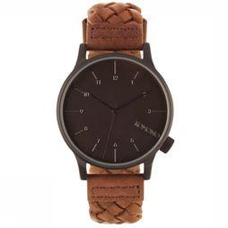 Komono Watch Winston Woven mid brown/black