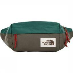 The North Face Heuptas Lumbar Pack Donkergroen/Donkergrijs