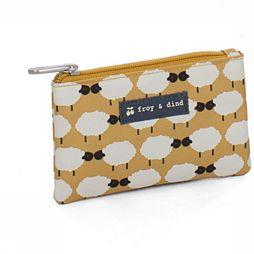 Froy & Dind Purse Money dark yellow/off white