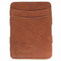Hunterson Portefeuille Leather RFID Magic Wallet Middenbruin