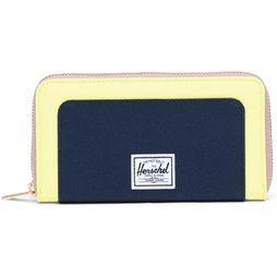 Herschel Supply Portefeuille Orion Wallet Lichtgeel/Donkerblauw
