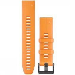 Garmin Gps Quickfit 22 Watch Band Spark Orange Silicone Oranje