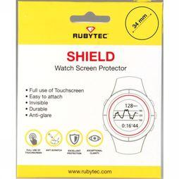 Rubytec Miscellaneous  Shield 34 mm Watch Screen Protector No Colour