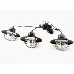 Barebones Living Eclairage Edison String Lights 3 Pack USB Noir