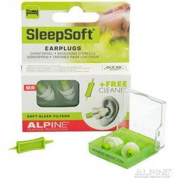 Alpine Boules Quies Earplugs Sleepsoft Plus Vert Moyen/Blanc
