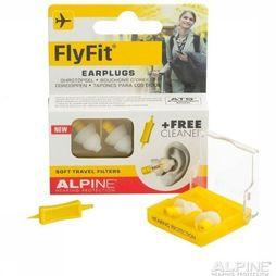 Alpine Boules Quies Earplugs Fly Fit Jaune Moyen/Blanc