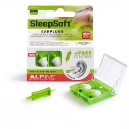 Alpine Earplugs Sleepsoft Minigrip mid green/white