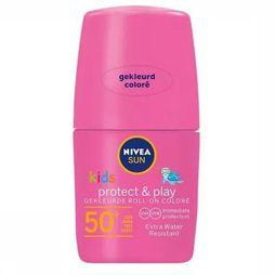 Nivea Protection Solaire SPF50+ 50Ml Kids Coloured Roll On Pink Pas de couleur