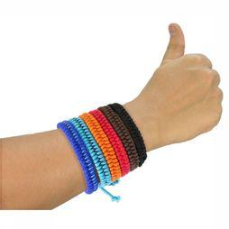 Mosquitno Anti-Insectes Woven Bracelet Citriodiol Rouge Moyen