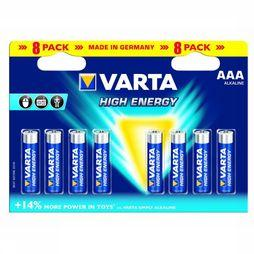 Varta Battery AAA 8-Pack He Mignon No Colour