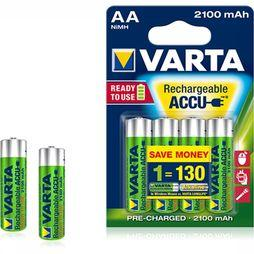 Varta Battery AA 4-Pack R2U 2100Mah Penlite No Colour