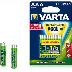 Varta Battery AAA 4-Pack R2U 800Mah Micro No Colour