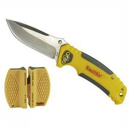 Smith's Couteau Edgesport Combo Backcountry Jaune Moyen/Noir