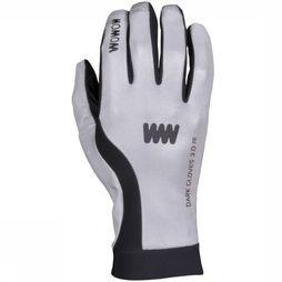 Wowow Reflective Material Dark Gloves 3.0 white/black
