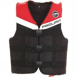 Prolimit Sup Acc Zwemvest Nylon 3-Buckle Zwart/Middenrood