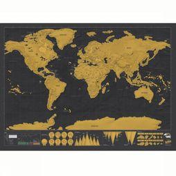 Luckies Gadget Scratch Map Deluxe No Colour