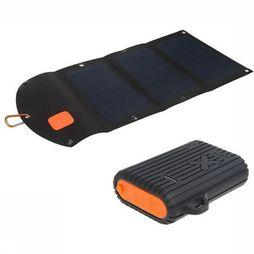 Xtorm Battery Loader Outdoor Kit Solarbooster 21W + WPB Xtreme 10000 black/orange
