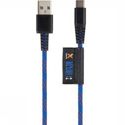 Xtorm Charger Solid Blue Kevlar Usb-C Cable mid blue/mid red