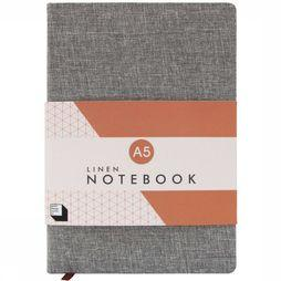 Good Design Works Gadget Linen Notitieboek Middengrijs