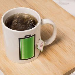 Kikkerland Mug Battery Morph white/mid green