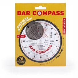 Kikkerland Gadget Bar Compass Zilver/Middenrood