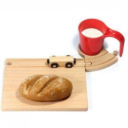 Neue Freunde Gadget Train Breakfast Set light brown/mid red