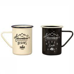 Gentlemen's Hardware Gadget Tall Enamel Mugs Set Of 2 white/black