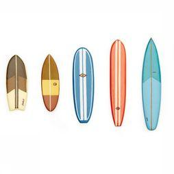 Kikkerland Surf'S Up Magnets Assortment