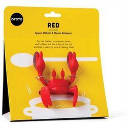Ototo Gadget Red Spoon Holder And Steam Releaser mid red