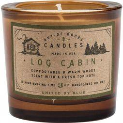 United by Blue Gadget Log Cabin Out Of Doors Candle 3Oz Middenbruin