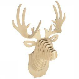 Gadget Wooden Deer Head