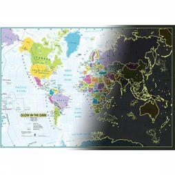 Gadget Glow In The Dark Children's World Map